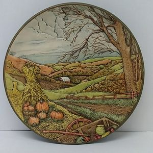 Fall theme Byron molds 3D decorative wall plate